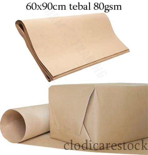 jual beli aneka produk harga kertas coklat tebal bungkus packing shop