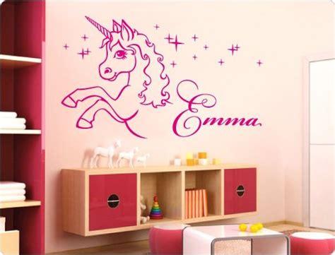 Kinderzimmer Ideen Einhorn by Wandtattoo Einhorn Mit Name M 228 Dchen Wandtattoos Als