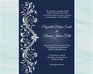 white ornaments etsy With e wedding invitation cards editable
