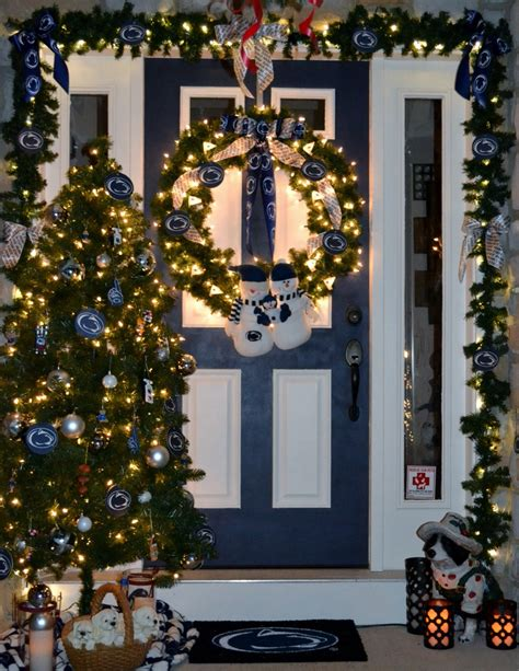 My Penn State Christmas Decorations On My Front Porch For 2012  Holidays  Pinterest Decoration