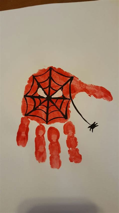 superhero spiderman handprint superhero crafts