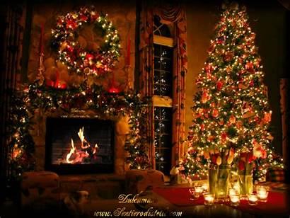 Caminetto Navidad Natale Buon Fireplace Tree Noel