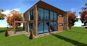 architecte constructeur maisons loft patio pilotis cube With plan de maison cubique 3 maison bois cubique 224 toit plat nos maisons ossatures bois