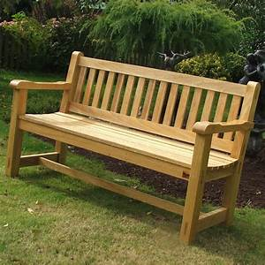Hardwood Garden Bench - Idigbo The Wooden Workshop
