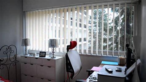 store chambre cidev stores à bandes verticales pour chambre