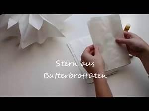 Butterbrotpapier Sterne Vorlage : stern aus butterbrotpapier youtube ~ Watch28wear.com Haus und Dekorationen