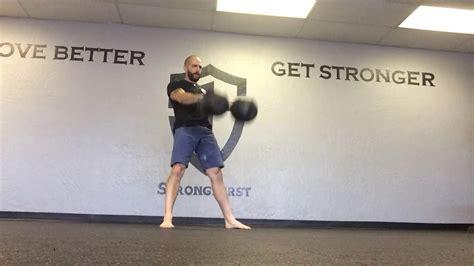kettlebell heavy swing double 48kg