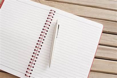 Notebook Pen Blank Open Table Spiral Copy