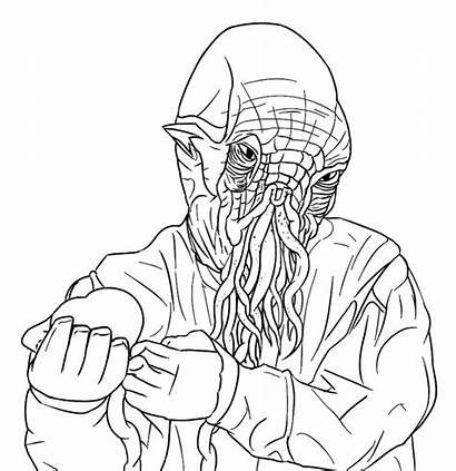 Ood Doctor Coloring Pages Dalek Drawing Colour