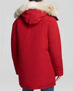 Canada Goose Langford Parka With Fur Hood In Red For Men Lyst