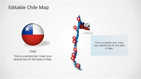 chile map template  powerpoint slidemodel