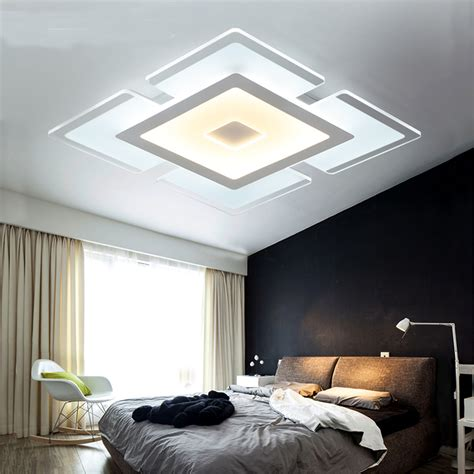 Modern Simple Square Acrylic Led Ceiling Light Living Room