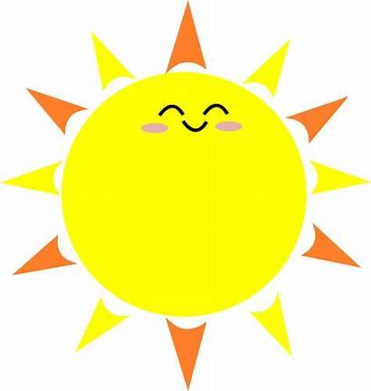Clipart Sun Happy Cartoon Summer Sunshine Svg