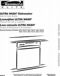 Kenmore 66516572201 User Manual Undercounter Dishwasher