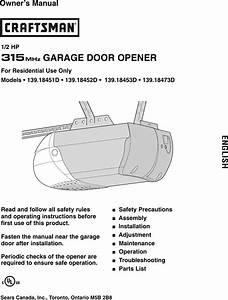 Craftsman Garage Door Opener Parts 41c4220a Canada