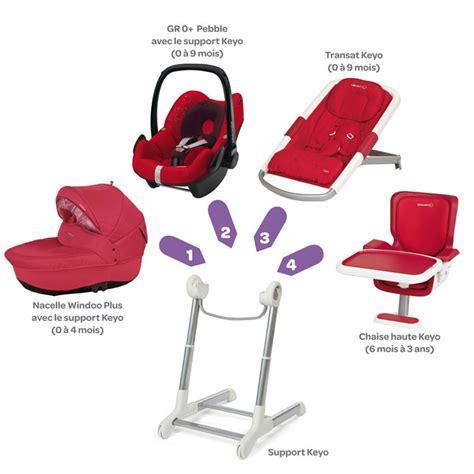 transat évolutif en chaise haute keyo de bébé confort aubert