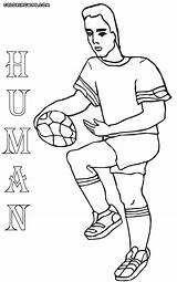 Human Coloring sketch template