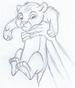 disney sketch - baby simba, the lion king | Drawings ...