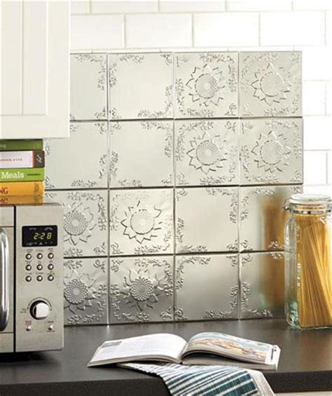 sticky backsplash for kitchen 16 self adhesive embossed raised pattern tin wall