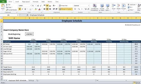 employee shift schedule generator excel template shift