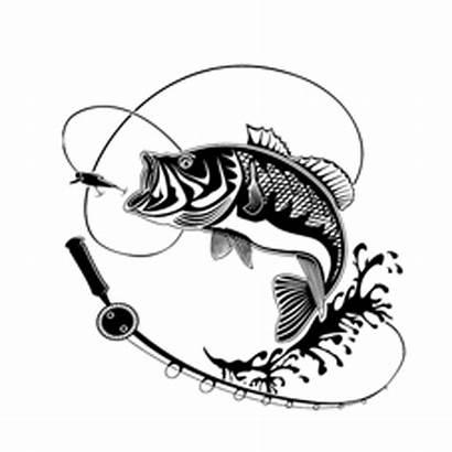 Silhouette Fishing Bass Decal Vinyl Sticker Fish