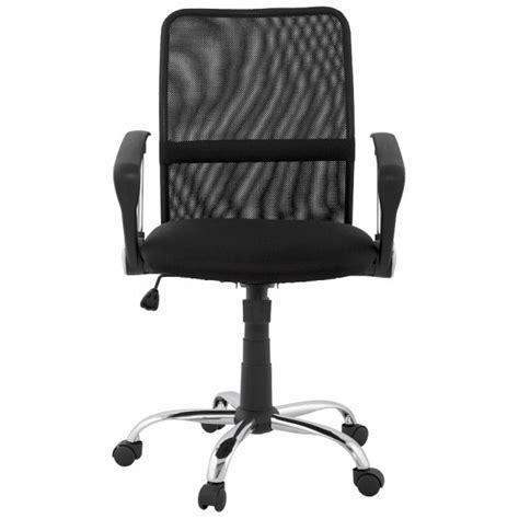 chaise de bureau ronde fauteuil de bureau simple et confortable harvard noir vistadeco