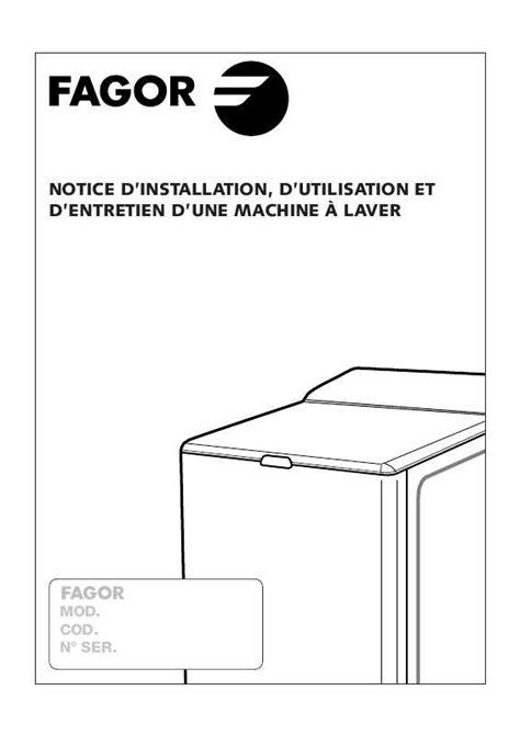 notice et pi 232 ces fagor innova lave linge pompe de vidange courroie charbon electrovanne