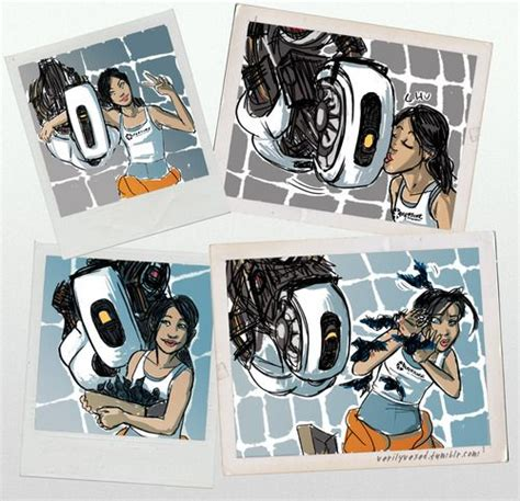Glados And Chell Portal 2 Fan Art Art Pinterest