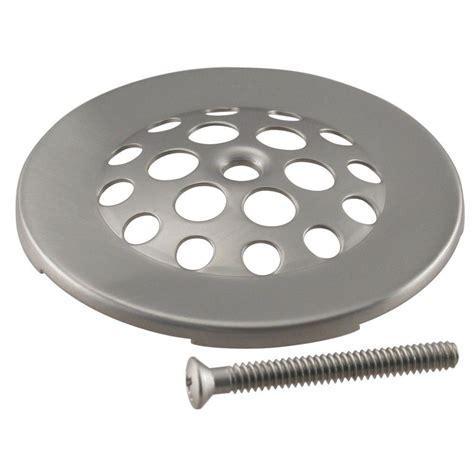 Tub Drain Strainer by Westbrass 4 1 2 In Brass Snap In Shower Strainer Grid In