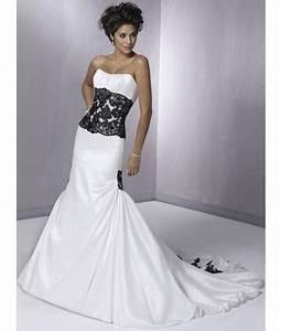 Embroidered black and white wedding gownwedwebtalks for Black white wedding dresses