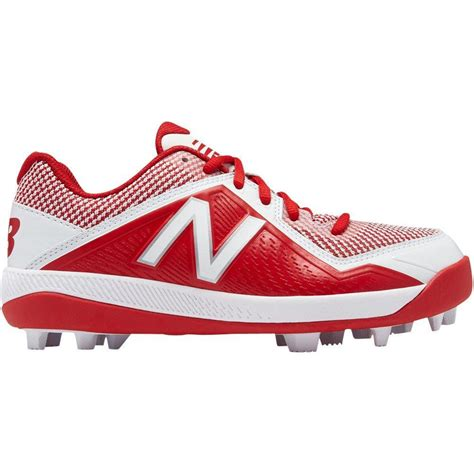 balance youth jv molded baseball cleats red