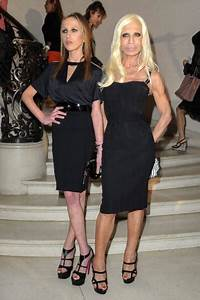 Allegra Versace and Donatella Versace (Photo by Pascal Le ...