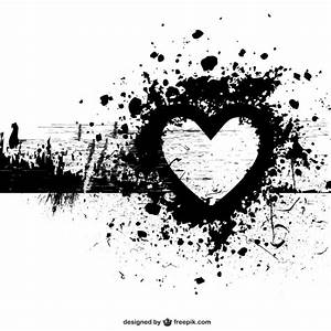 Grunge heart shape vector background Vector   Free Download