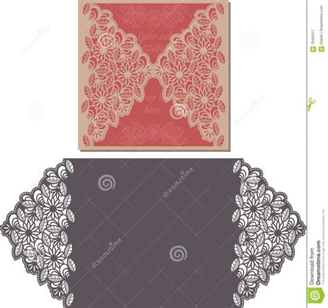 Laser Cut L Template by Laser Cut Pattern For Invitation Card For Wedding Stock