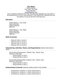 relevant experience resume template what to put on your resume when you no relevant work experience