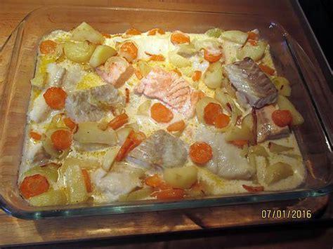 recette de gratin de poissons aux carottes pommes de terre