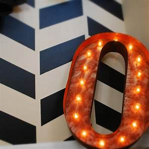 Rusty 24 inch letter o marquee light by vintage marquee lights for 24 marquee letters