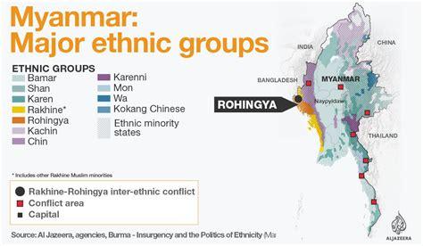 myanmar map myanmar major ethnic  al jazeera