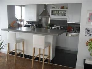 cuisine ouverte bar top cuisine With faire une cuisine ouverte
