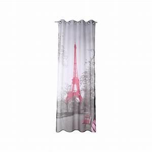 Paris voilage 140x250cm decoration fenetre rideau design for Tapis chambre ado avec sac kraft a fenetre