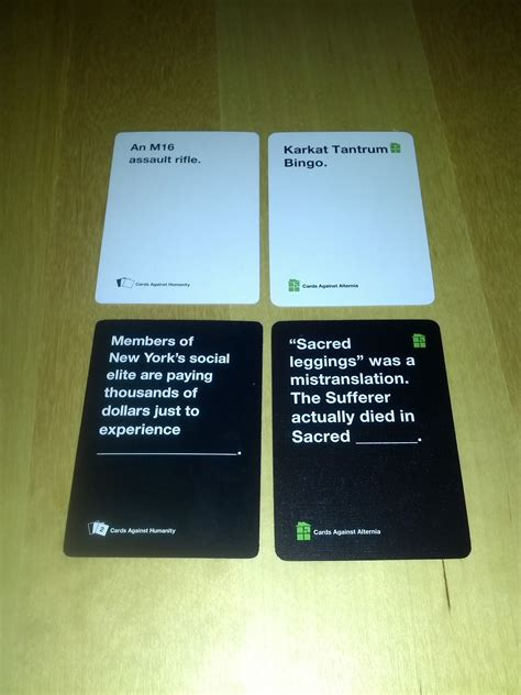 Both the base game and the expansions are available in digital form and there are several ways to play. Cards Against Alternia, Which cards are official Cards Against Humanity,...