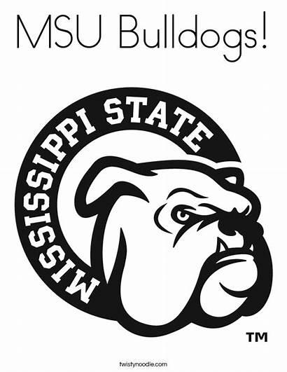 Coloring Msu Bulldogs Mississippi State Bulldog Built