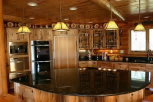 Log Cabin Kitchen Island Ideas by Log Cabin Kitchen Idea Log Cabin