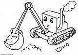 Digger Coloring Pages Printable Excavator Backhoe Son Drawing Grave Truck Template Getdrawings Getcolorings Monster Templates Trucks Jam Colorings sketch template