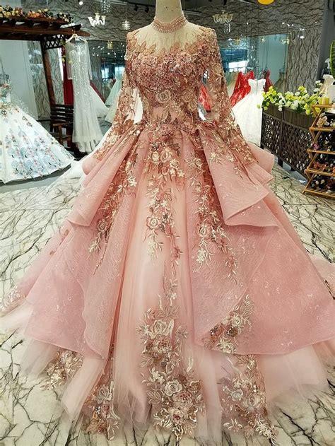 pinkgrey long sleeve embroidery simple luxury long