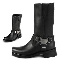 womens boots black 39 s milwaukee motorcycle harness boots black 20925 motorcycle biker boots at sportsman