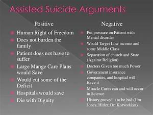 physician assisted suicide pros and cons essay
