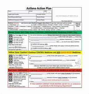 image gallery nih asthma action plan With my asthma action plan template