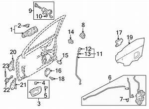 Mazda Protege Door Lock Rod Clip  Right   Type 1