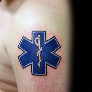 60 Star Of Life Tattoo Designs For Men - EMS, EMT and ...